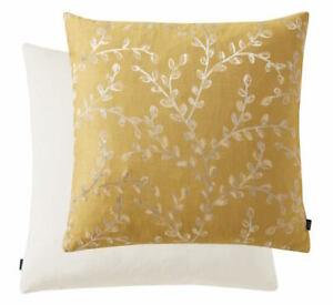 """Leaf Stem Ochre 17"""" Feather Filled Cushion"""