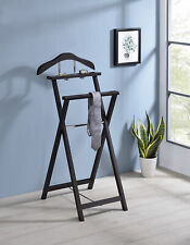 Ch-4294 King S BRAND Kings Walnut Finish Solid Wood Suit Valet Rack Stand Organizer 802319006069