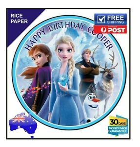 Frozen Elsa Edible Rice paper Image Cake Birthday Party Topper Personalised 19cm
