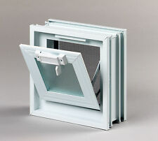 Lüftungsfenster Lüftungsflügel 239x239mm statt 1 Stück Glasbaustein 24x24x8cm