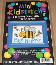 "Bumble ""Bee Happy"" Cross Stitch Kit w/ Mill Hill Bee Button NIP"