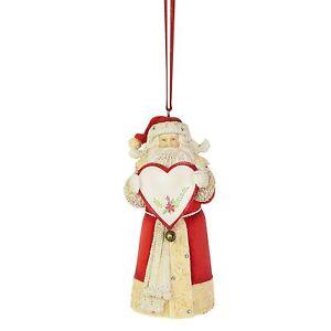 Enesco Heart of Christmas Santa Personalizable Hanging Ornament 4.33 Inch