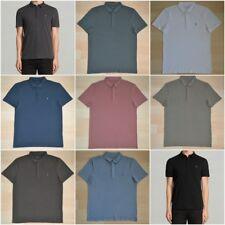 ALLSAINTS Brace Ramskull Logo Short Sleeves Cotton Polo Shirt RRP £55 NEW