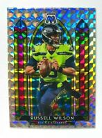 2020 Panini Mosaic Russell Wilson STAINED GLASS SILVER Prizm Card, SSP, Seahawks