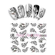 Nail art water transfer Stickers Decals-Adesivi Unghie-Leopardo/Tigre-Buy 3 Get4