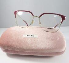 Miu Miu VMU 52O UE5-1O1 Shiny Burgundy/Gold New Authentic Eyeglasses 52mm WCase