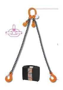 Robur 8097 8mm 3M Lifting Chain Sling 2 Leg with Clevis Grab Hooks 080970043