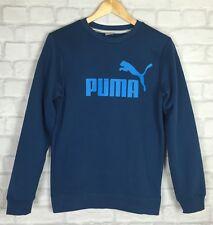 VINTAGE RETRO PUMA 90'S SWEATER SPORT ATHLETIC JUMPER NAVY GRUNGE UK XS