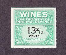 US RE185 13 2/5c Wines Revenue Series of 1951-1954 Unused NGAI SCV $30