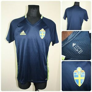 ADIDAS Men's size LARGE SVFF SWEDEN Football T-shirt / Jersey