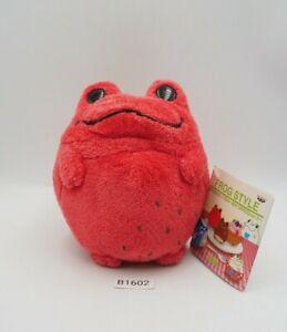 "Keroppi Style Frog B1602 Red Bandai Banpresto 2004 Plush 4.5"" Toy Doll Japan"
