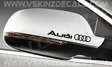 AUDI Logo Premium Mirror Decals Stickers TT A3 A4 A5 A6 S5 S3 S4 S-line Quattro