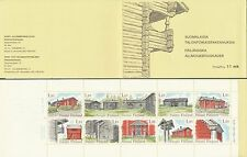 Finland 1979 MNH Booklet - Finnish Old Traditional Farm Houses - Scott 626