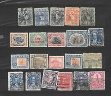 GUATEMALA    21 VALORI USATI  dal 1886  lot lotto