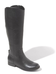 Universal Thread Women's Brisa Tall Black Faux Leather Zippered Riding Boots NWT