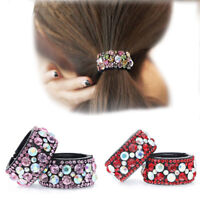 Women's Crystal Bun Ponytail Holder Maker Hair Band Ponytail Hair Accessories