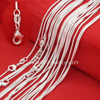 "Wholesale Lots Women 925 Sterling Solid Silver 1mm Snake Chain Necklaces 16""-30"""