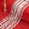 """Wholesale Lots Women 925 Sterling Solid Silver 1mm Snake Chain Necklaces 16""""-30"""""""