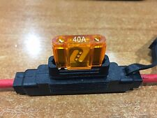 Inline Blade Fuse Holder Maxi Type – 40 AMP 8AWG 8B&S Wire Free 40AMP Fuse x 1
