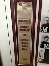 1925-26 Montreal Maroons Stanley Cup Ribbon-RARE