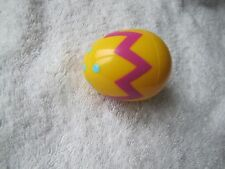 New! EASTER EGG 3 inch YELLOW PLASTIC EGG for BASKET Fisher Price Little People