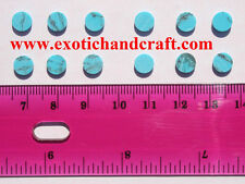 1 set of 12pcs inlay material reconstitute Arizona Turquoise Stone dots 6.35mm