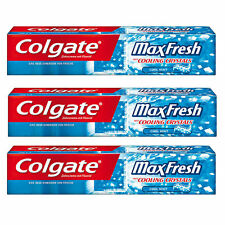 3x COLGATE MAX FRESH Toothpaste With Cooling Crystals 125ml 4.4 fl oz