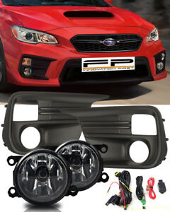 For 2018 2019 Subaru WRX Base Clear Fog Light Kit Wiring + Switch Complete Kit