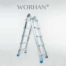WORHAN®  530cm Ladder Foldable Telescopic Extendable 5.3m Multipurpose Rigid L5