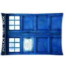 Doctor Who Tardis Police Public Call Box Pillow Case Cover 20 x 30 Inch One Side