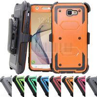 Hybrid Shockproof Case Hard Armor Cover Belt Clip For Samsung Galaxy J5 J7 Prime