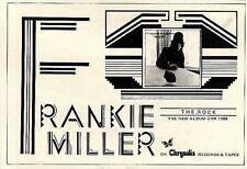 "SL26/12/75p47 Album Advert 4x6"" Frankie Miller : The rock"