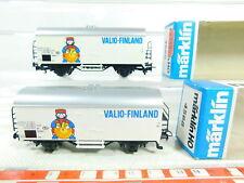 BS635-0,5# 2x Märklin H0/AC 4568 Kühlwagen/Güterwagen Valio-Finland SNCB; OVP