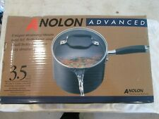 Calphalon Advanced infused anodized Non Stick pour and strain Glass Lid