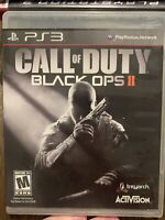 Call of Duty: Black Ops II (PlayStation 3, 2012) Complete Tested With Manuel