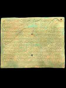 RARE ANCIENT ROMAN BRONZE DOUBLE SIDED MILITARY DIPLOMA - 200-400 AD (1)