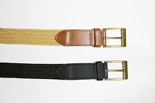 """King size 2 pack Elastic Stretch belts XXXXL 4XL 54"""" - 60"""" Black and Brown"""