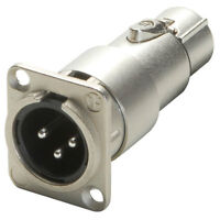 "Neutrik NA3MDF XLR ""D"" Series 3-Pin Male to Female Adapter"