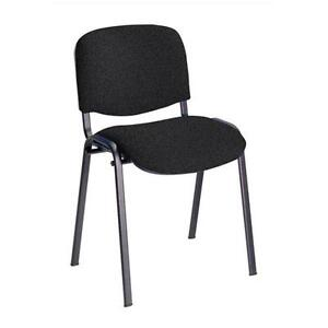 30 x Conference  Stacking Chair Charcoal Fabric (MULTIBUY OFFER)