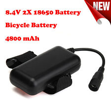 8.4V Rechargeable 4800mAh 2X18650 Battery Pack For Bicycle Bike Light Headlamp