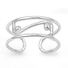 Love Toe Ring Valentines Day Adjustable .925 Sterling Silver Infinity