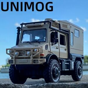 1:28 For Mercedes Benz Unimog Diecast Model Car Toy Collection Sound&Light Gift