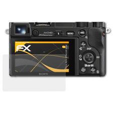 atFoliX 3x Screen Protector voor Sony Alpha a6000 ILCE-6000 mat&schokbestendig