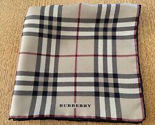 "Burberry London Silk Handkerchief Pocket Square Scarf 16"" x 16"" Plaid NovaCheck"