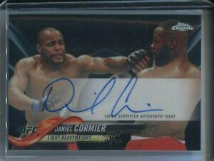 Daniel Cormier 2018 Topps Chrome UFC Autograph Black 10/10 1/1 Auto READ