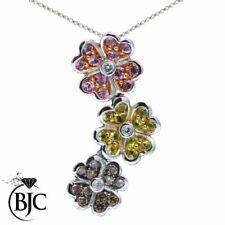Runde Echtschmuck-Halsketten & -Anhänger aus Gelbgold Saphir