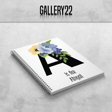 Personalised Notebook Letter And Name Floral A5 Gift Stationery