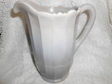 Gray marble Milk Slag Glass water serving Pitcher / Panel Pattern swirl grey tea