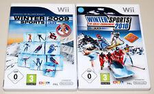 2 WII SPIELE SET - WINTER SPORTS 2009 2010 - NEXT CHALLENGE RTL WINTERSPORTS