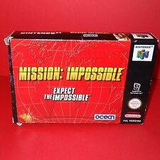 VINTAGE 1998 NINTENDO 64 N64 MISSION: IMPOSSIBLE CARTRIDGE VIDEO GAME PAL BOXED